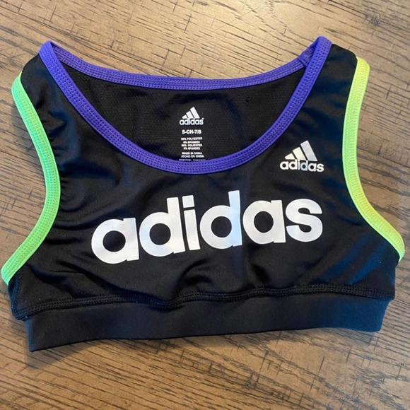 Adidas sports bra crop girls 7/8